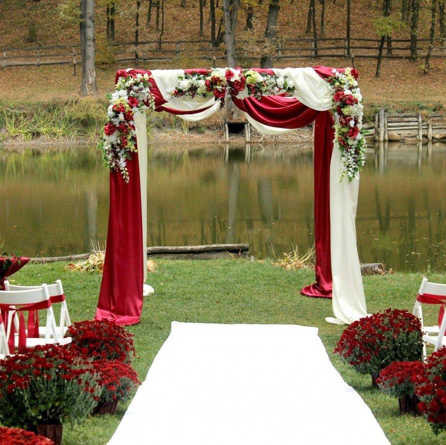 Четырехугольная свадебная арка своими руками 78