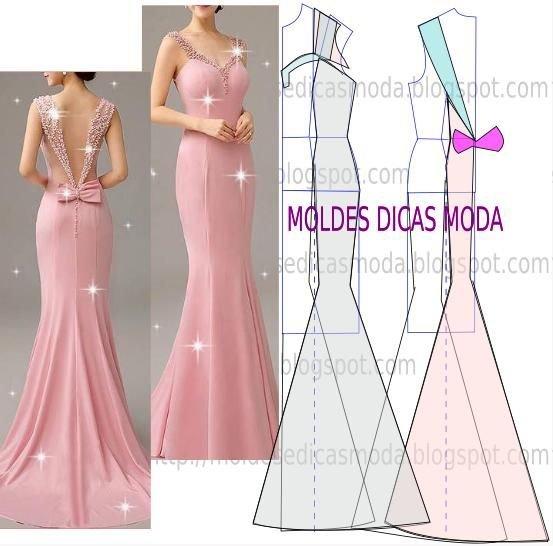 Как самому сшить красивое вечернее платье 298