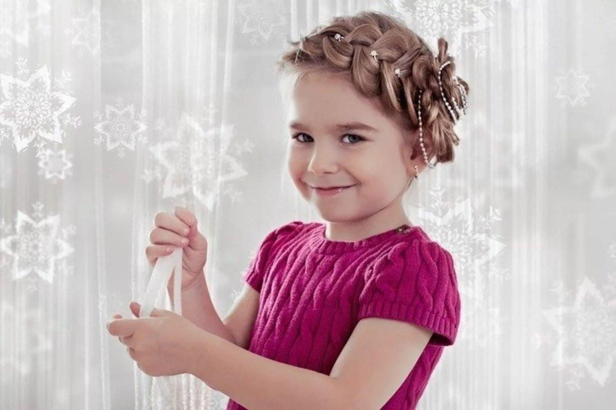 Праздничные детские причёски для девочек фото на выпускной
