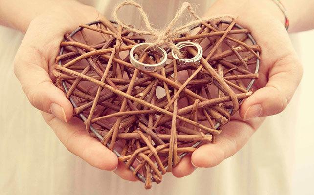 Сердце из веток