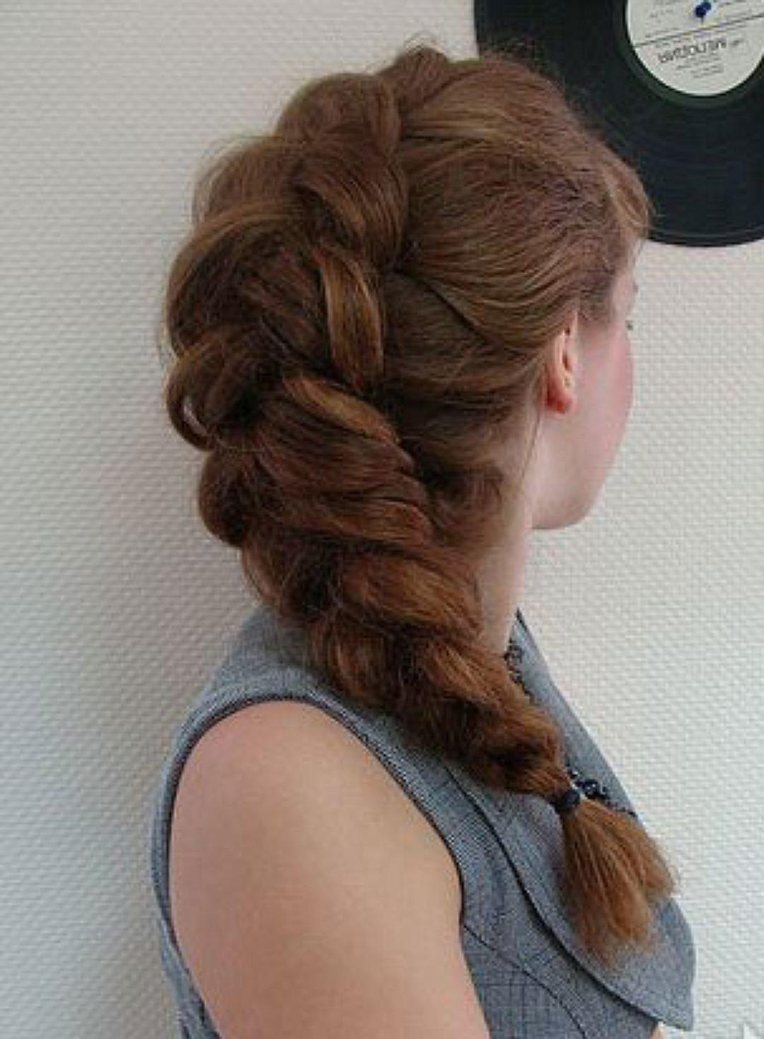 Как сделать одну объемную косу 9