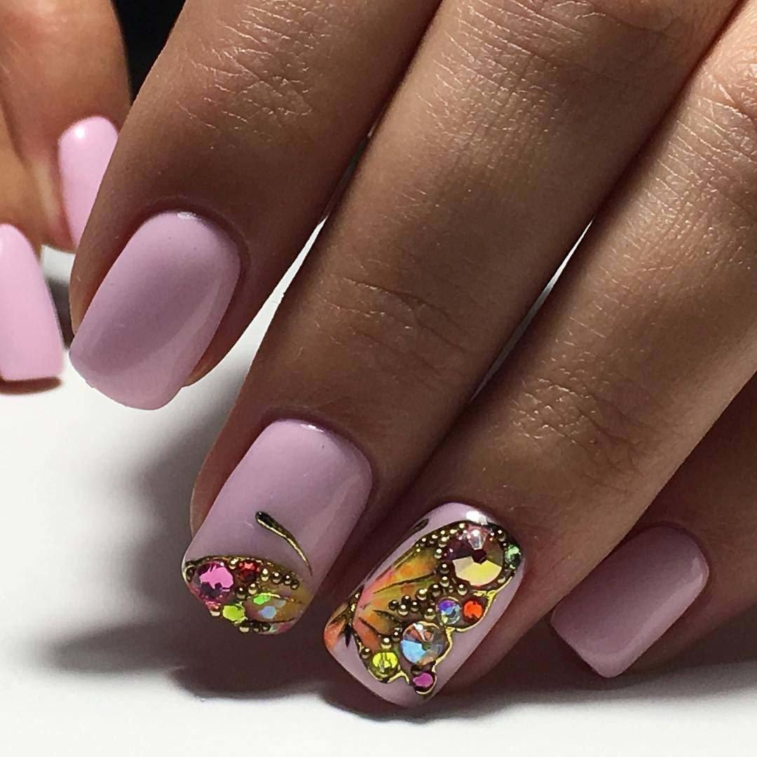 Дизайн ногтей гель лаком на короткие ногти весна лето 2018 фото новинки