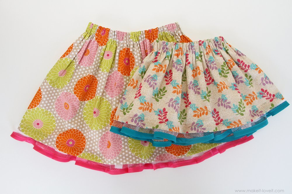 Как сшить юбку на резинке для девочки своими руками фото 91