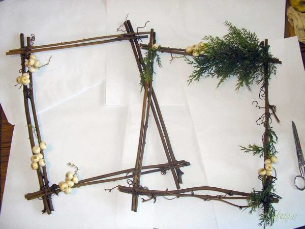 Рамки из веток дерева своими руками 75