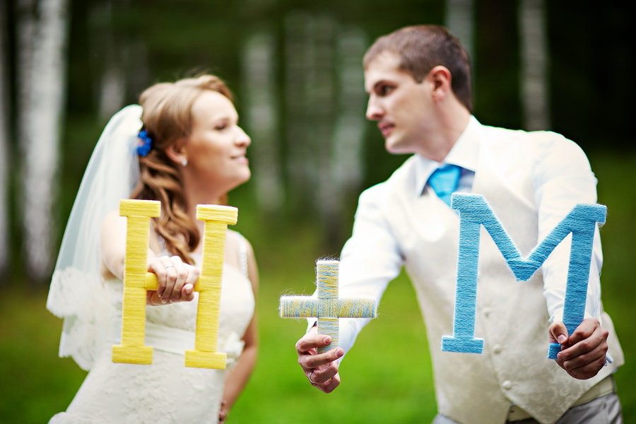 Реквизиты на свадебное фото своими руками