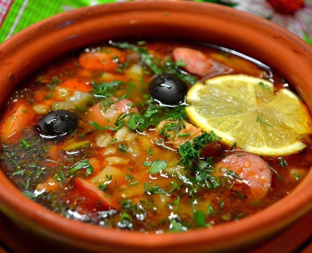 Суп солянка с сборная рецепт с фото пошагово с картофелем