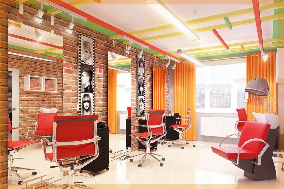 Интерьер парихмахерской. 70 фото дизайнов 81