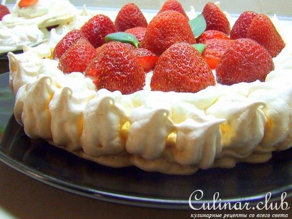 Рецепты тортов-безе со сливками