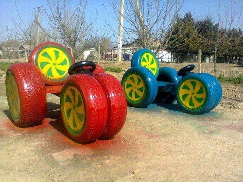 Поделки из шины своими руками фото на детскую площадку 70