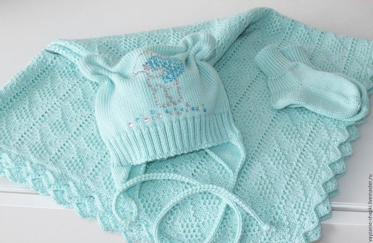 Какую пряжу лучше использовать для вязания пледа малышу 40