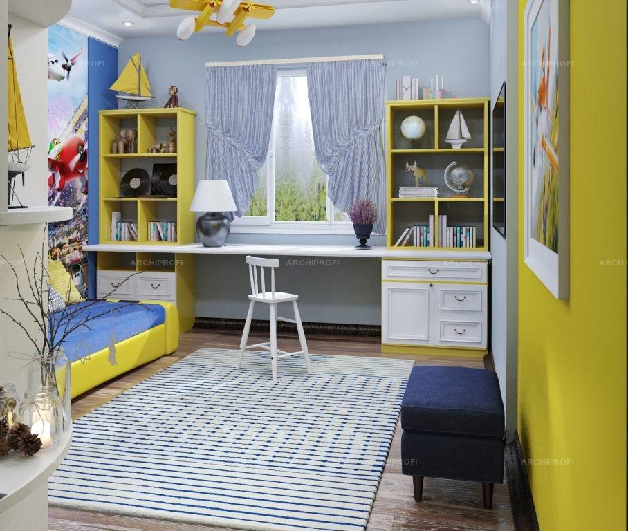 Интерьер детской комнаты для 2 мальчиков 10 кв.м фото