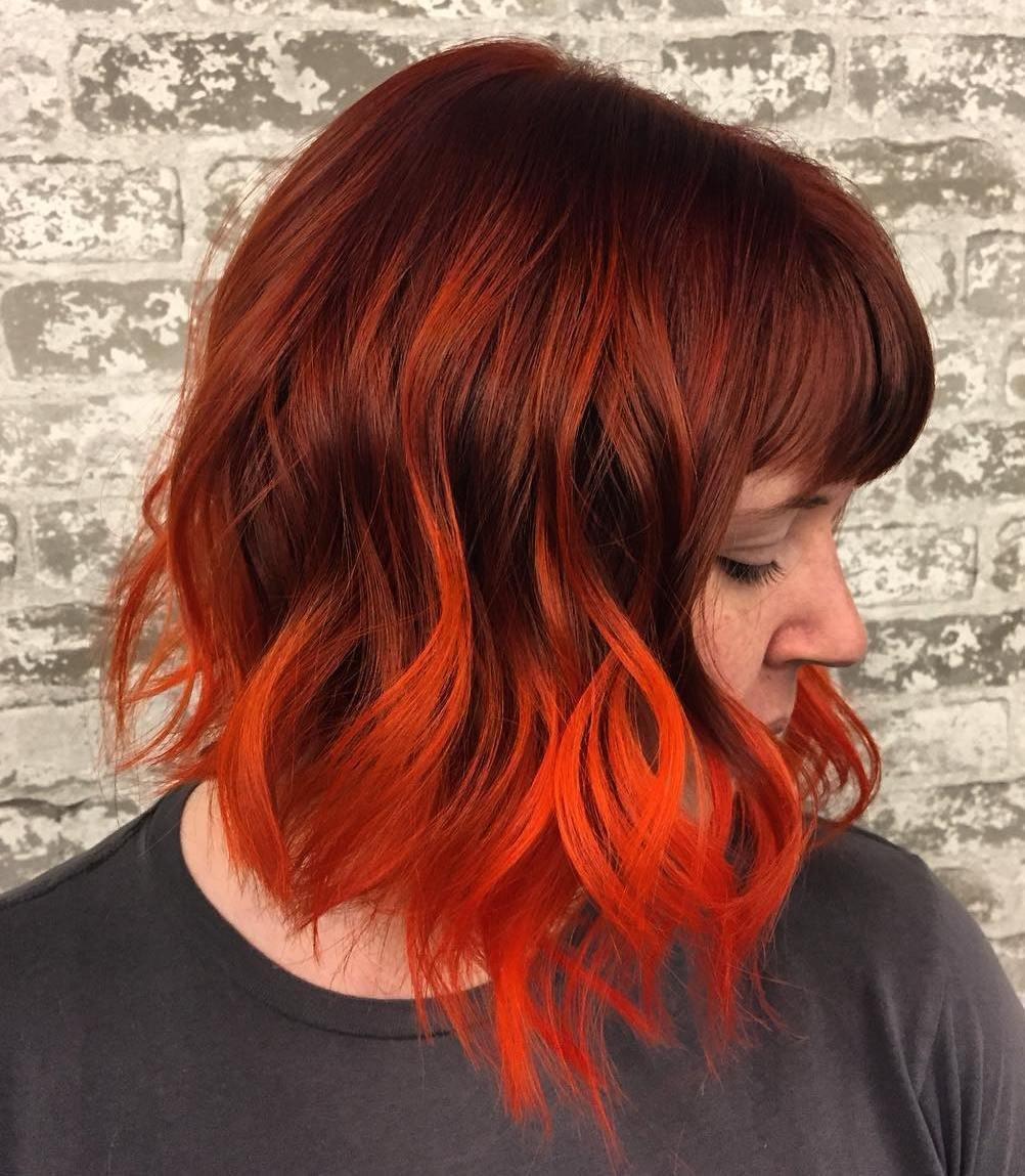 Черно рыжие короткие волосы