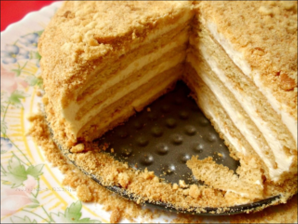 Медовый торт с молоком рецепт с пошагово