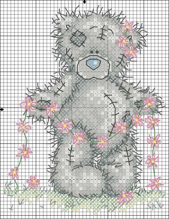 Вышивка крестом схемы бесплатно-мишки тедди 94