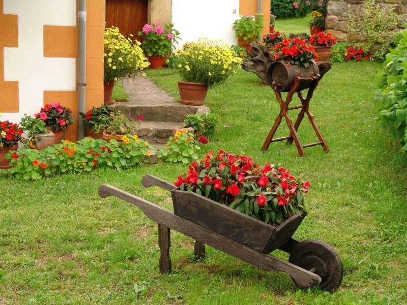 Обустройство двора дома в деревне своими руками  654