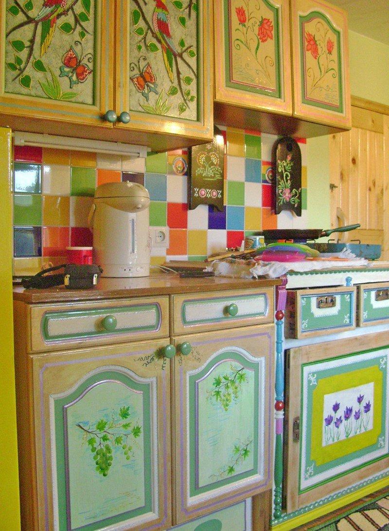 Декупаж кухонных шкафов своими руками