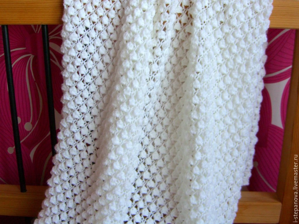 Плед вязание спицами фото 132