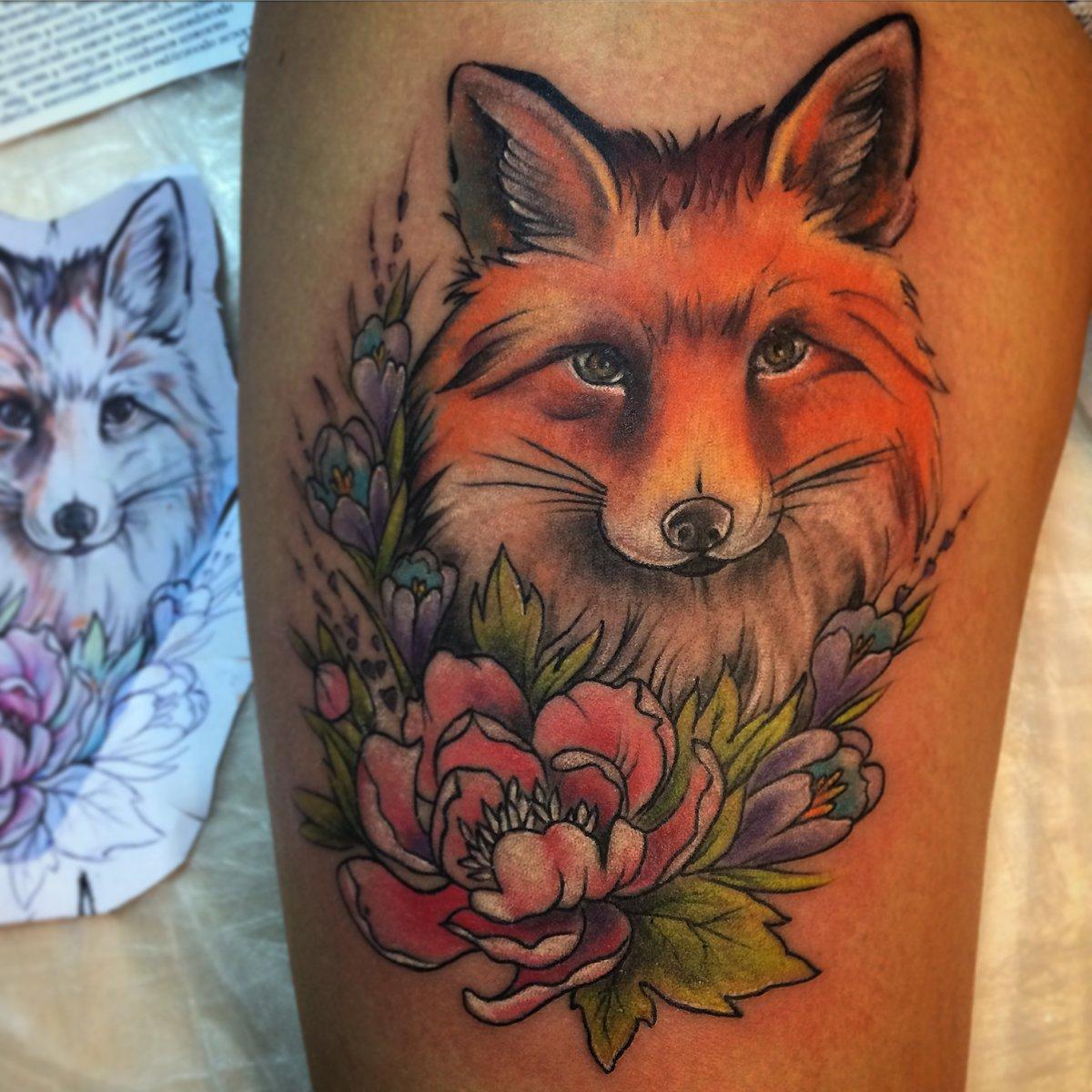 Татуировка лиса. Символика, основное 8