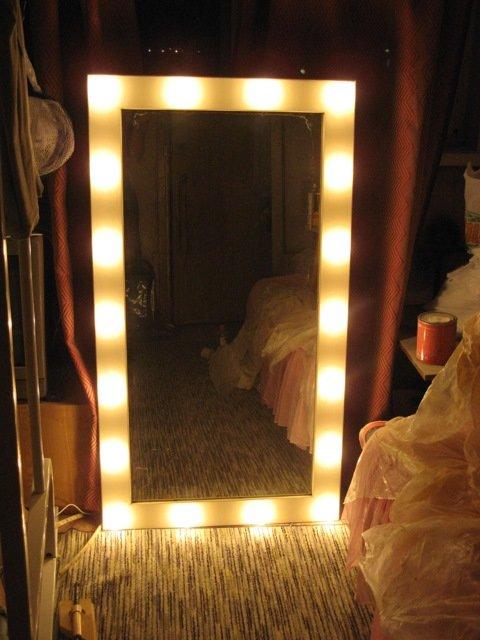 Зеркало в гримерку своими руками 654