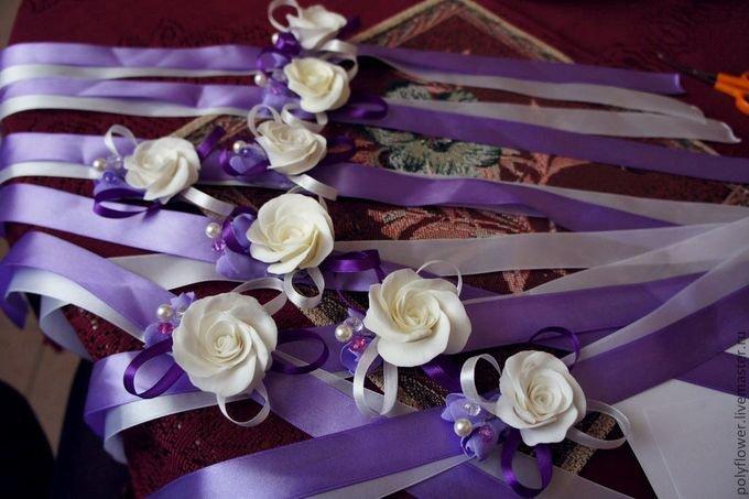 Как сделать браслет из ленты на свадьбу