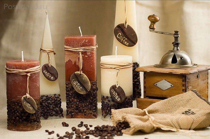 Кофейные свечи своими руками 21
