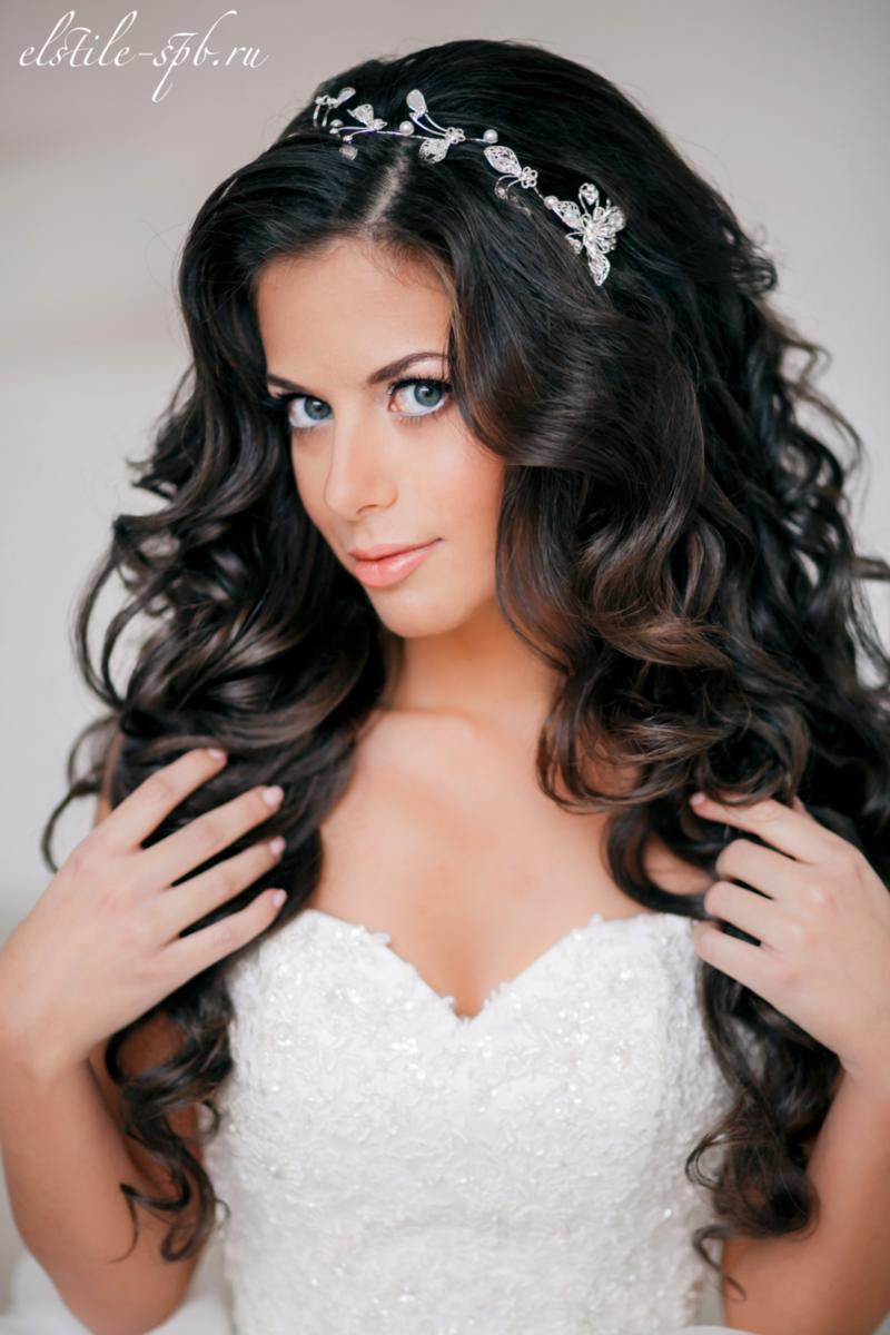 Фото свадебные прически с кудрями на длинные волосы