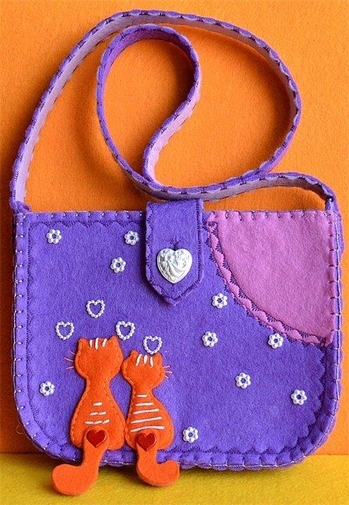 Маленькие сумочки из фетра своими руками