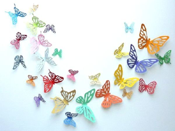 3d бабочки на стену своими руками 584