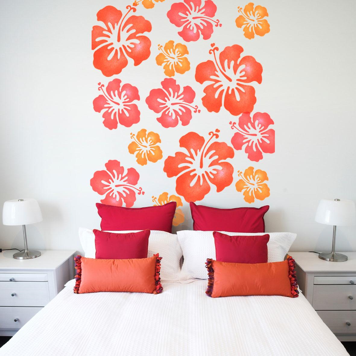 Рисунок на стене своими руками в спальне фото