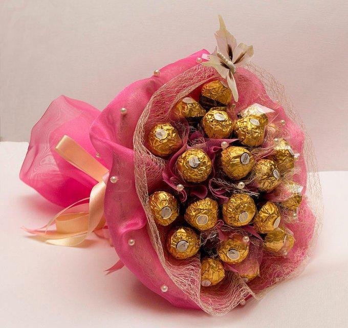 Букет из конфет сделай подарок своими руками