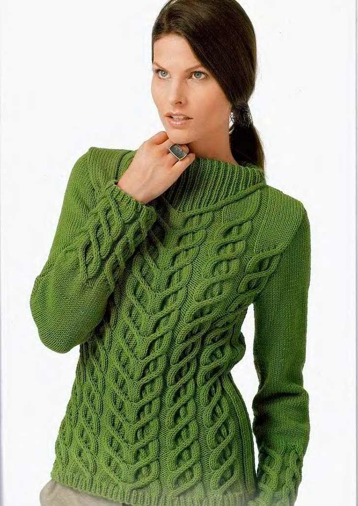 Узоры вязания свитера женского 476