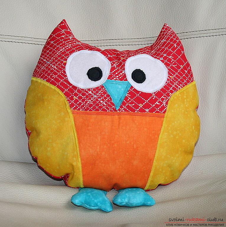Как сшить подушку в виде совы своими руками 55
