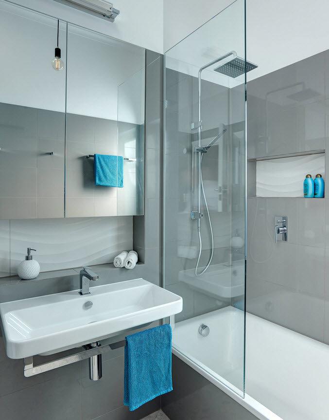 Ванная комната дизайн 4кв.метра