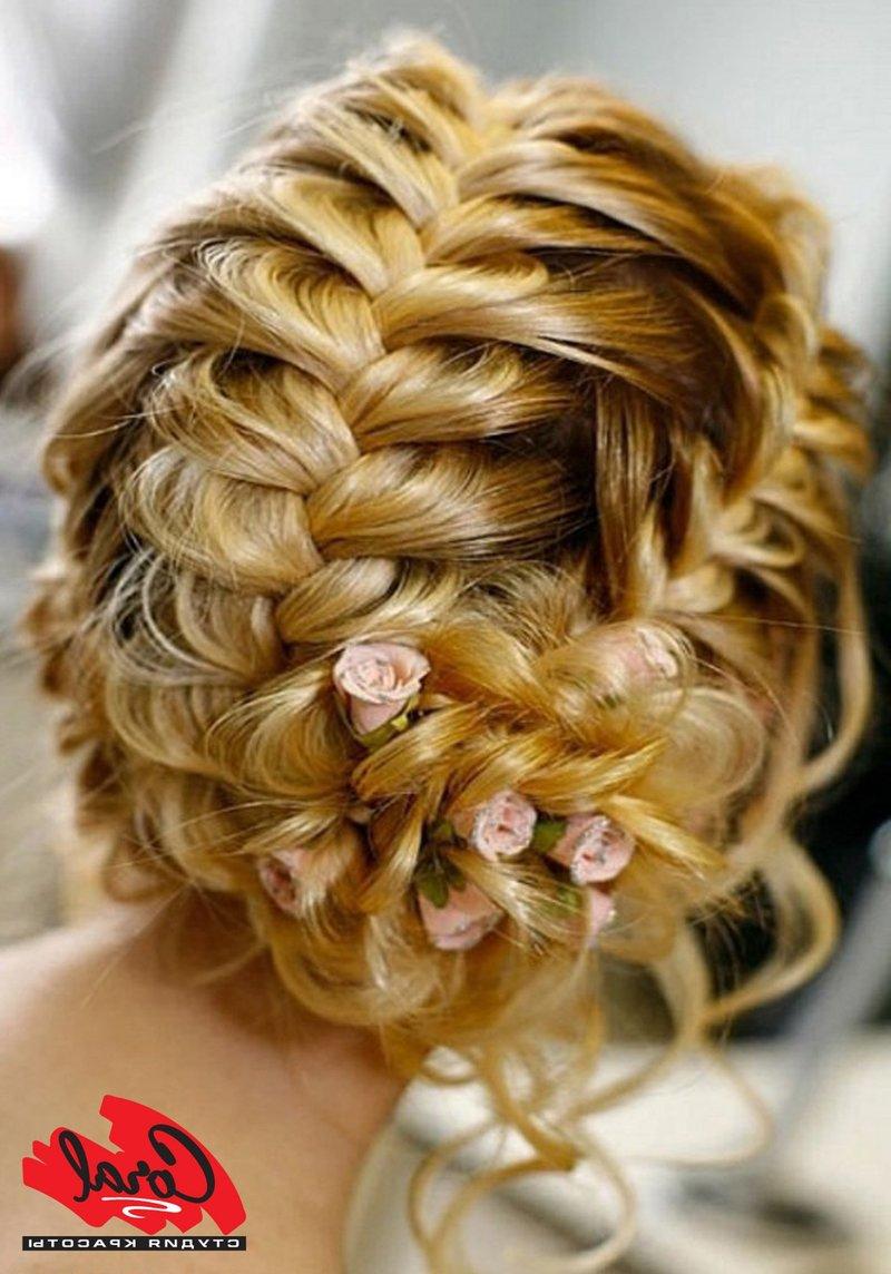 Прически на средние волосы на свадьбу своими руками с косами