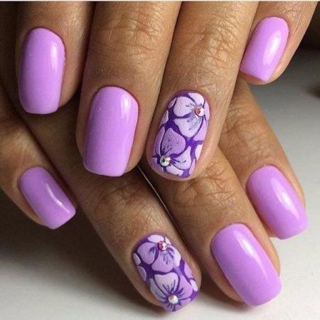 Дизайн ногтей сиреневые
