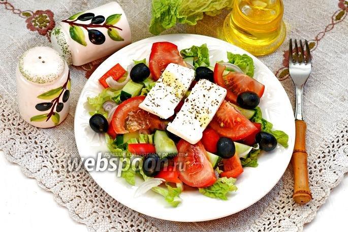 Салат греческий классический пошаговый рецепт с с пекинской капустой