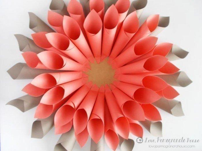 Как сделать из бумаги сделать объёмный цветок из бумаги