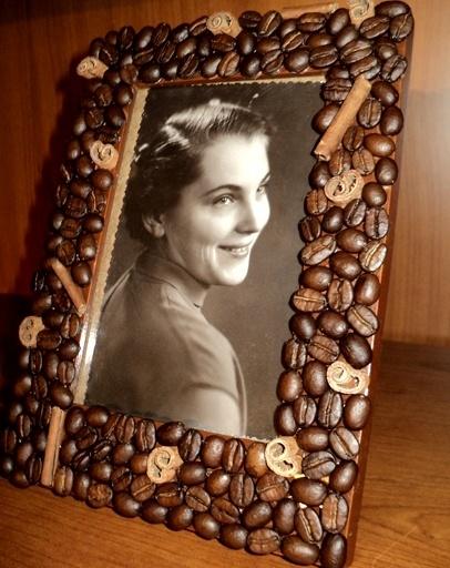 Рамка из кофейных зерен своими руками