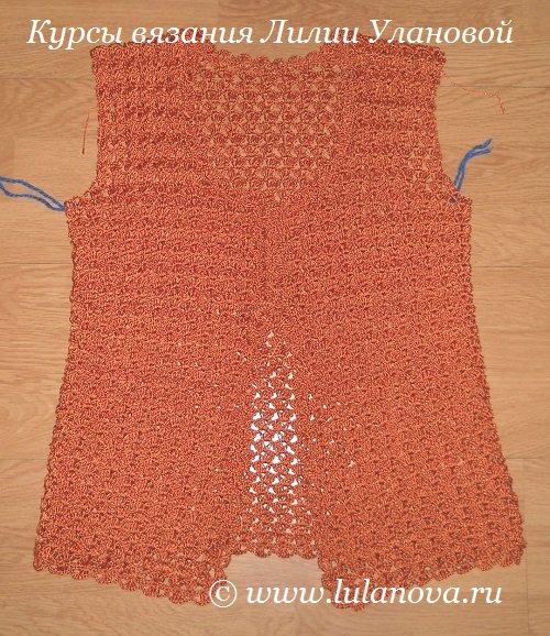 Лилия уланова вязание крючком кофта
