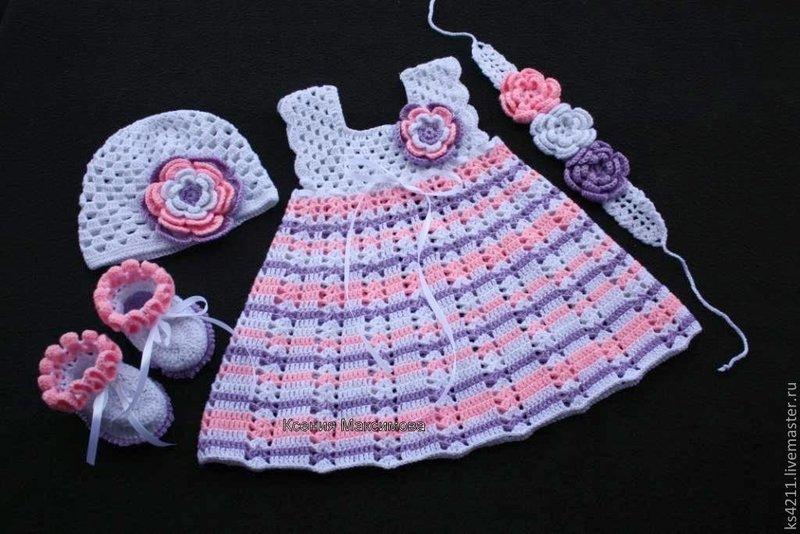 Детское вязание крючком для девочек фото