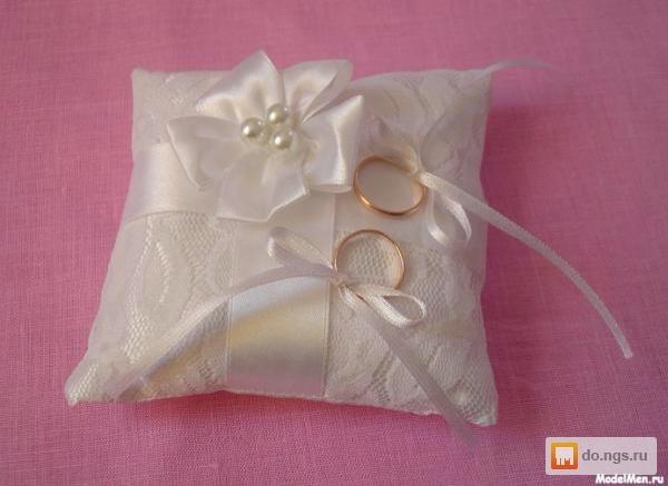 Свадебных подушечек для колец своими руками