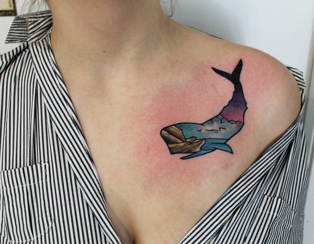 Эскиз тату кита фото