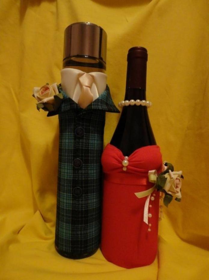 Мастер класс украсить бутылку своими руками