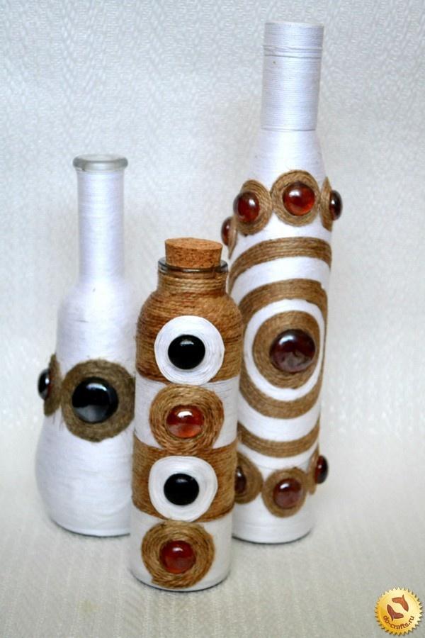 Декор бутылки для подарка