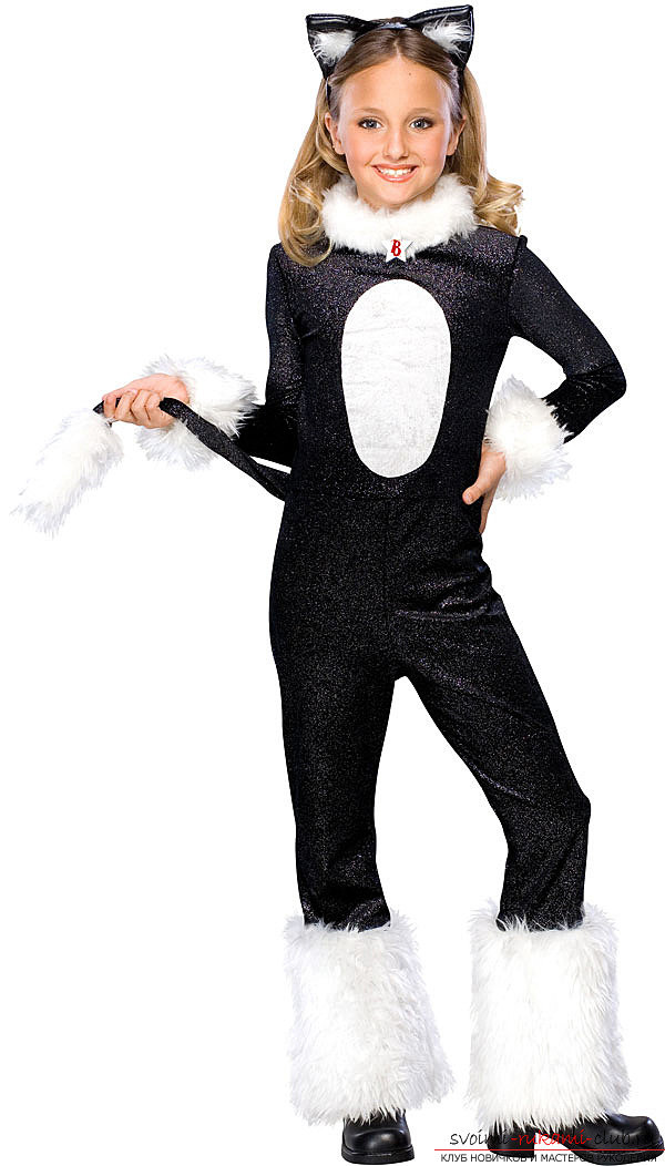 Как сделать костюм кошки своими руками девочке7