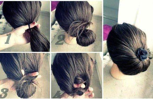 Красивые прически для средних волос своими руками 38