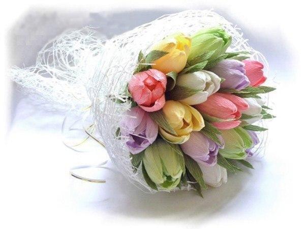 Букет из тюльпанов из бумаги своими руками 27
