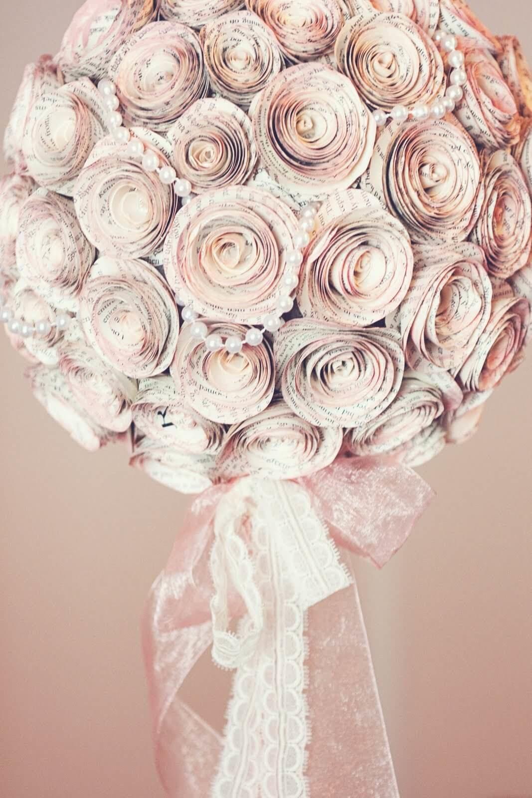 Роза из бумаги для топиария своими руками