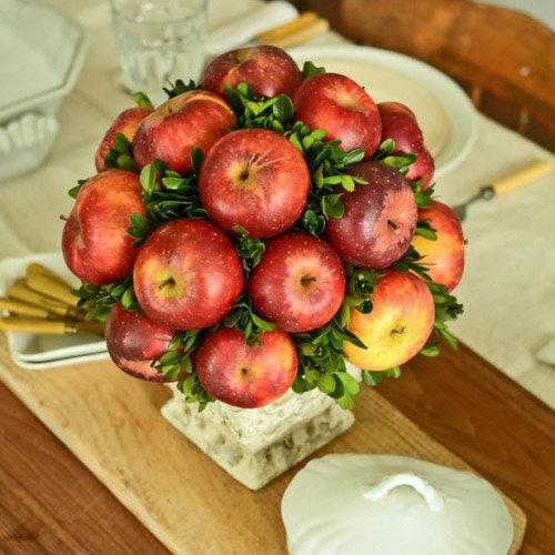 Букеты из яблок пошагово