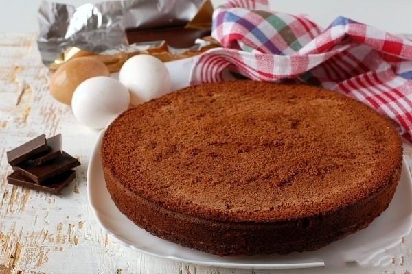 Шоколадный бисквит из белков рецепт 165